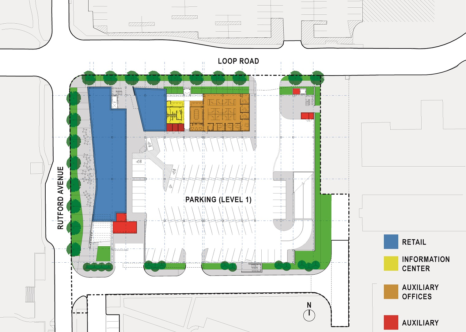 Site Plan, Mixed-Use Parking Structure