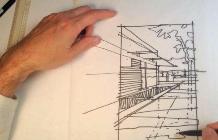 Sketch Series; Summer Pool House
